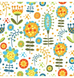 seamless bright floral pattern on a white backgrou vector image
