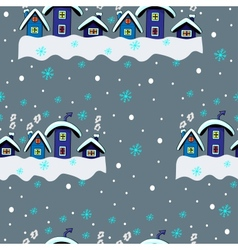 Winter Seamless Houses vector image
