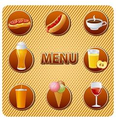 food menu vector image vector image