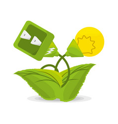 plant related with alternative energy for save the vector image vector image