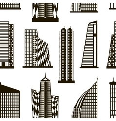 Skyscrapers set pattern vector image
