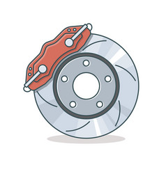 brake disc icon vector image vector image