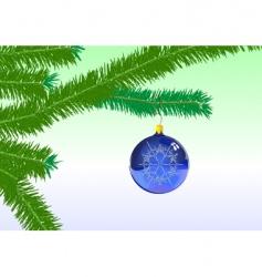 Christmas tree ornaments vector image vector image