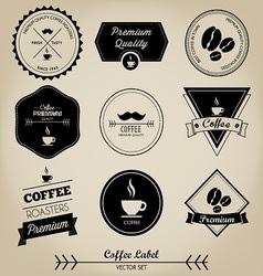 Premium Coffee Label vector image