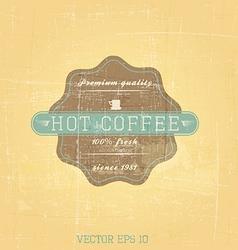 retro cofee label vector image vector image