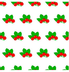 seamless pattern from red currant with leaves on vector image vector image