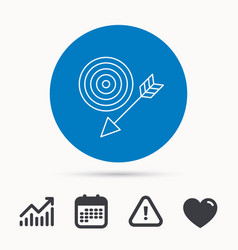 target with arrow icon dart aim sign vector image