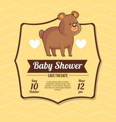 Baby shower card invitation save the date with vector