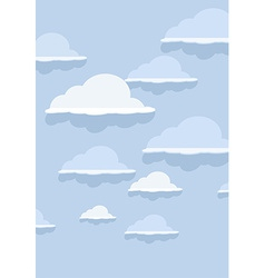 Cloud pattern on blue background vector image vector image