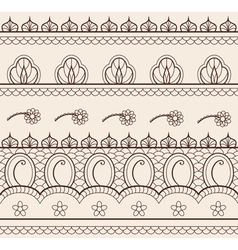 indian henna ornament seamless vector image