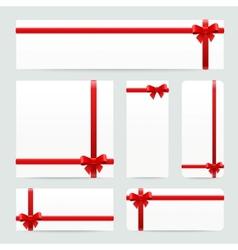 red bows and ribbons set vector image vector image
