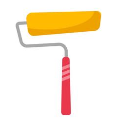 yellow paint roller cartoon vector image