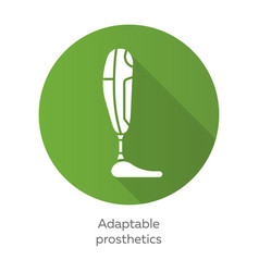 Adaptable prosthetics green flat design long vector