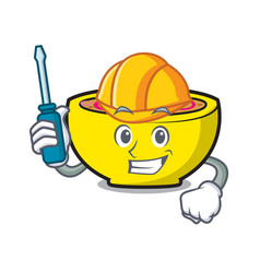 Automotive soup union mascot cartoon vector