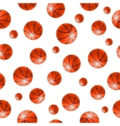 Baskettball ball seamless background vector image