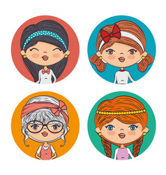 beautiful fashionable girls vector image
