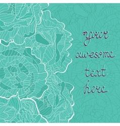 Beautiful peonies card vector image