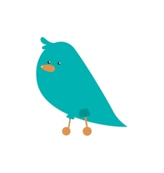 Bird cartoon icon Cute animal design vector image