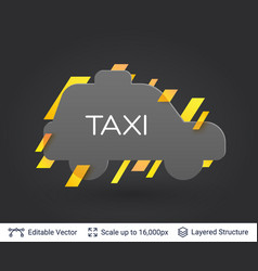 black badge taxi car sticker vector image