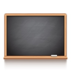 Black School Chalk Board vector