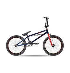 bmx bike in flat style vector image