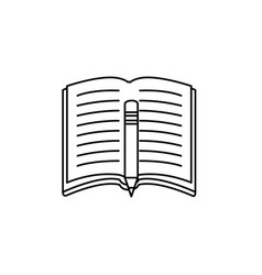 book open symbol vector image