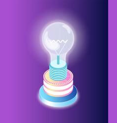 business startup lightbulb creative idea vector image