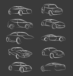Car Line Brush Dirty vector image