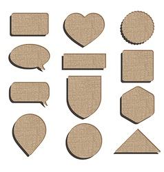 Cardboard labels vector