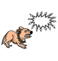 Cartoon image of annoyed dog vector