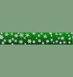 christmas banner paper snowflakes vector image