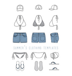 clothing templates set vector image