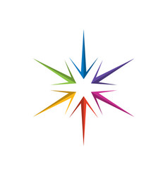 colorful compass vector image
