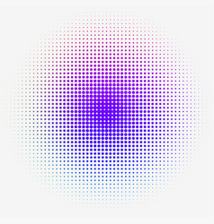 Colorful halftone dotted gradation vector