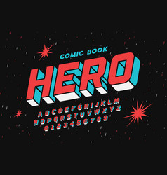 comic book style font design vector image