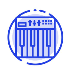 controller hardware keyboard midi music blue vector image
