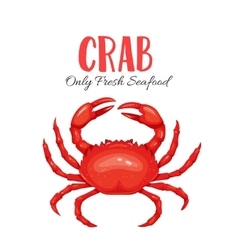 Crab in cartoon style vector