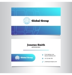creative business card template with globe vector image