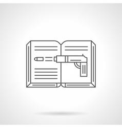 Crime novel flat line icon vector