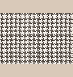 Crows foot pattern from pixels vector