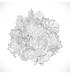 Decorative paisleys element collection vector
