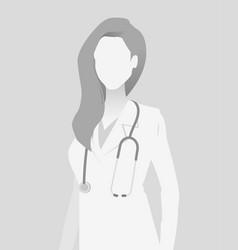 Default placeholder doctor half-length portrait vector