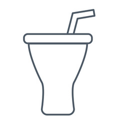drink cup with straw vector image