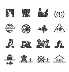 Earthquake icons set vector