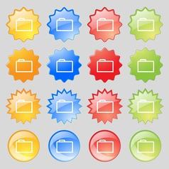 Folder icon sign Big set of 16 colorful modern vector image