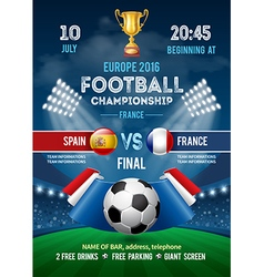 Football poster france vector image