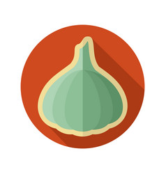 garlic flat icon vegetable vector image vector image