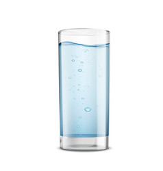 glass of clean water isolated on white background vector image