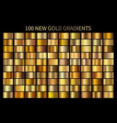gold gradient set shiny elegant golden vector image