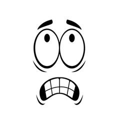 Grimacing emoji with bared teeth isolated emoticon vector